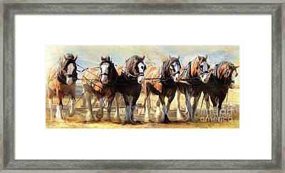 Framed Print featuring the digital art  On The Plough by Trudi Simmonds