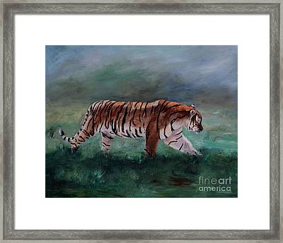 Framed Print featuring the painting On The Prowl by Brenda Thour