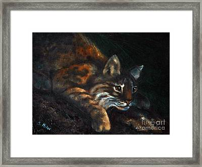 Framed Print featuring the painting On The Prowl by Suzanne McKee