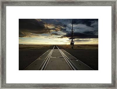 On The Rail Framed Print by Brian Gustafson