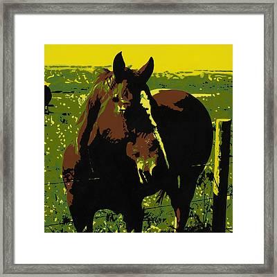 On The Range - Red Framed Print by Sonja Olson