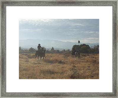 On The Range Framed Print by Janey Loree
