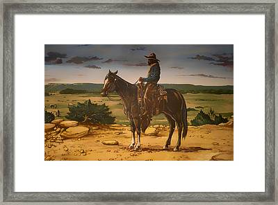 On The Range Framed Print by Mountain Dreams