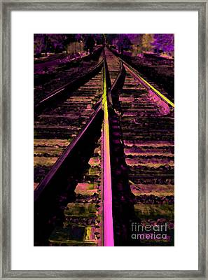 On The Right Track Framed Print by Donna Bentley