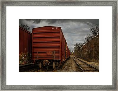 On The Right Track Framed Print by Eclectic Art Photos