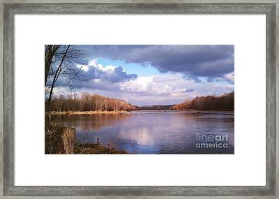 On The River Framed Print by EGiclee Digital Prints