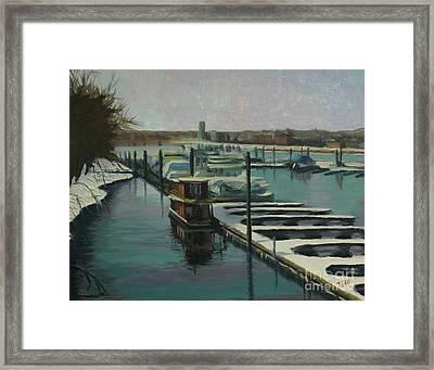 On The River Framed Print