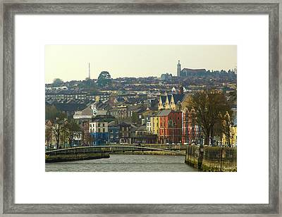 Framed Print featuring the photograph On The River Lee, Cork Ireland by Marie Leslie