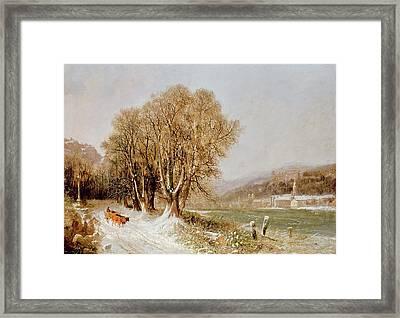 On The River Neckar Near Heidelberg Framed Print
