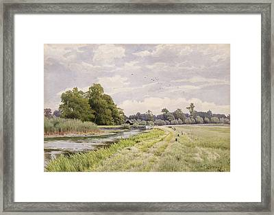 On The River Ouse Hemingford Grey Framed Print