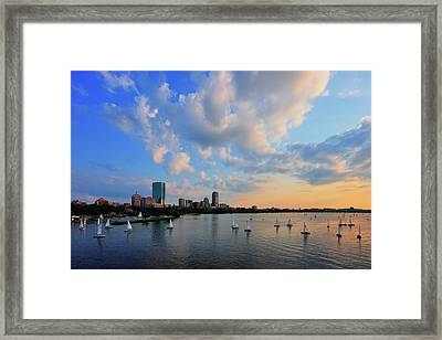 On The River Framed Print