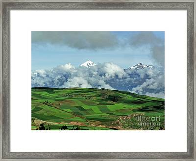On The Road From Cusco To Urubamba Framed Print by Michele Penner