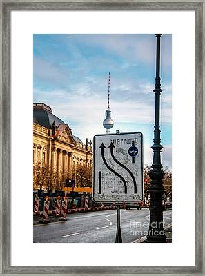 On The Road In Berlin Framed Print