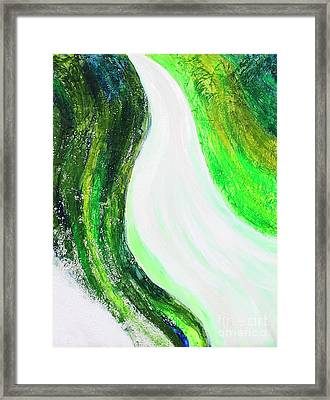 On The Road In Green Framed Print