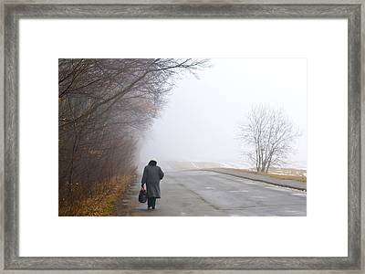On The Road Framed Print by Kobby Dagan