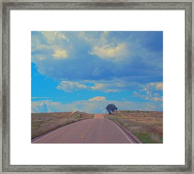 On The Road Oklahoma Revisited Framed Print
