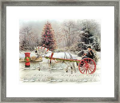 On The Road To Christmas Framed Print