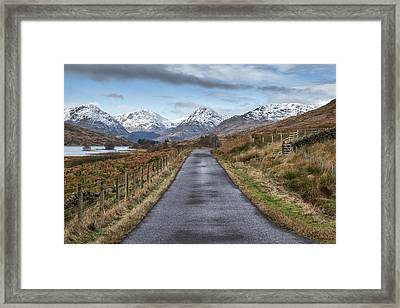 On The Road To Inversnaid In Scotland Framed Print by Jeremy Lavender Photography