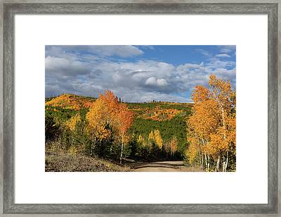 On The Road To Spirit Lake Framed Print