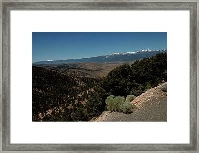 On The Road To Virgina City Nevada 1 Framed Print by LeeAnn McLaneGoetz McLaneGoetzStudioLLCcom