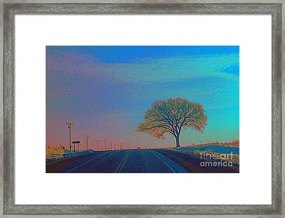 On The Road Wisconsin  Revisited Framed Print