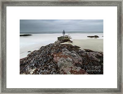 On The Rock Framed Print