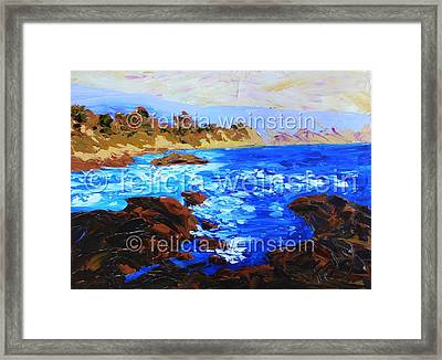 On The Rocks 1 Framed Print