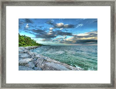 Framed Print featuring the photograph On The Rocks by Anthony Rego