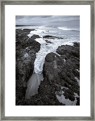 On The Rocks Framed Print by Dave Bowman
