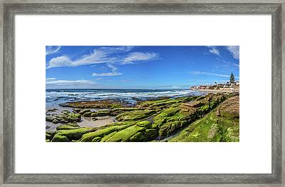 On The Rocky Coast Framed Print by Peter Tellone