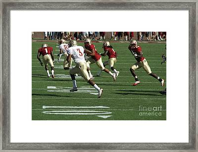 On The Run Framed Print by Allen Simmons