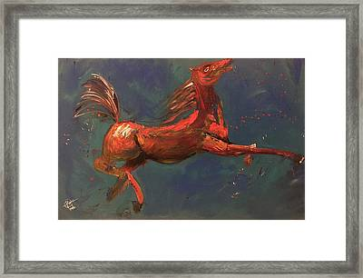 On The Run - Horse Framed Print by Rami Besancon