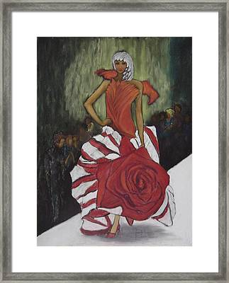 On The Runway Framed Print by Annette Kagy