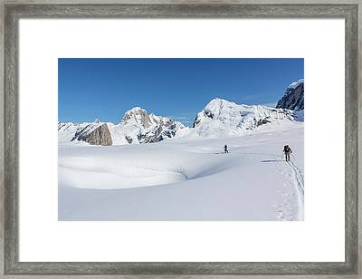 On The Ruth Glacier Framed Print