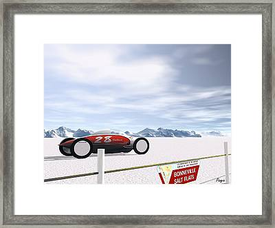 On The Salt Framed Print by John Pangia