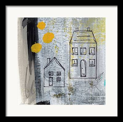 Yellow House Framed Prints