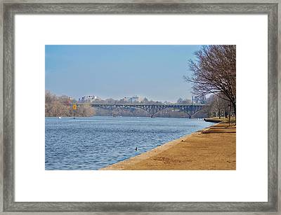 On The Schuylkill River - Strawberry Mansion Bridge Framed Print by Bill Cannon