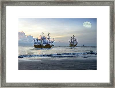 On The Sea Framed Print