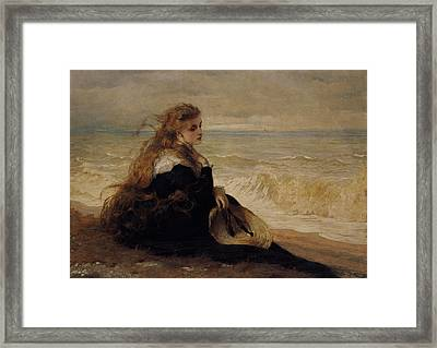 On The Seashore Framed Print