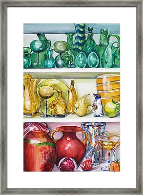 On The Shelf Framed Print