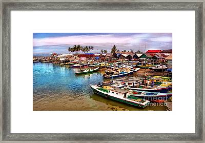 On The Shore Framed Print