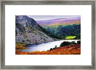 On The Shore Of Lough Tay. Wicklow. Ireland Framed Print