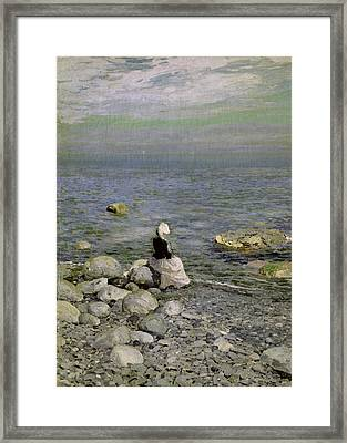 On The Shore Of The Black Sea Framed Print by Konstantin Alekseevich Korovin
