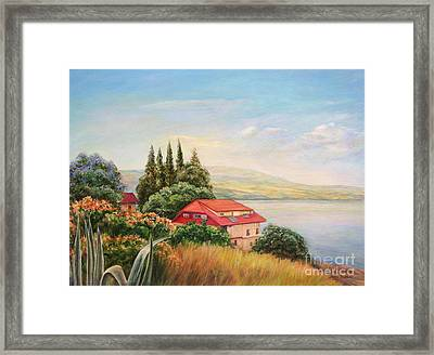 On The Shore Of The Kinneret Framed Print by Maya Bukhina