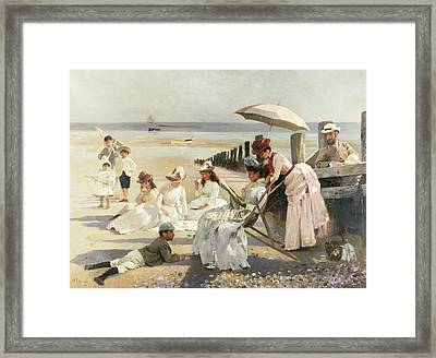 On The Shores Of Bognor Regis Framed Print