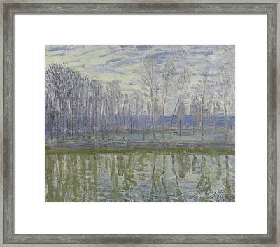 On The Shores Of The Loing, 1896 Framed Print