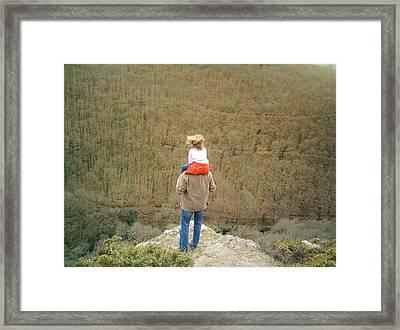 On The Shoulders Of Giants Framed Print