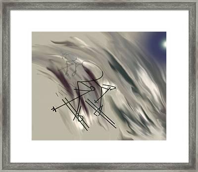 On The Slopes Framed Print by John Krakora
