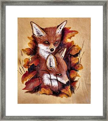 On The Sly Framed Print by Merle Blair