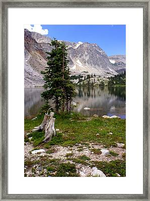 On The Snowy Mountain Loop Framed Print
